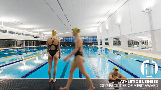 UBC Aquatic Centre receives 2017 Facilities of Merit Award