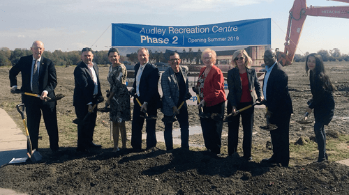 Ground officially breaks on the $30M Phase 2 expansion of Audley Recreation Centre