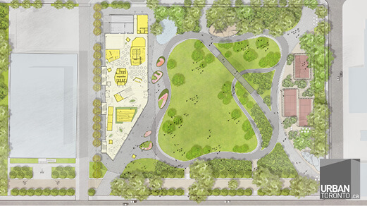 MJMA and West 8 reveal plans for downtown Moss Park