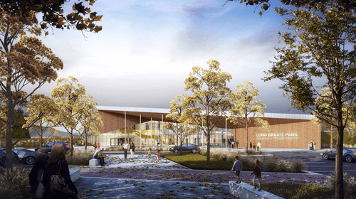 Our team has been shortlisted for the Long Bridge Aquatic Center and Park Design Competition